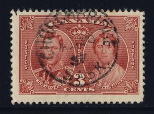 CANADA - 1937 - CHURCHBRIDGE / SASK. CANCEL ON SG 356 - VERY FINE