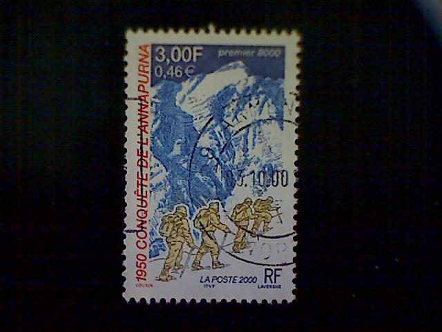 France, Scott #2775, used (o), Ascent of Annapurna, 3frs, multicolored