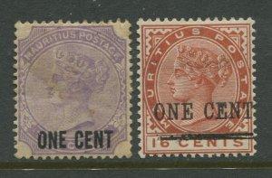 STAMP STATION PERTH Mauritius #89-90 QV Definitive Wmk 2 MH CV$8.00