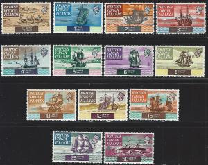 British Virgin Islands #206-218 MNH Short Set of 13 up to 50 Cents