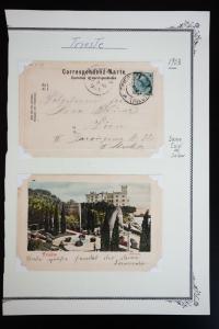 Austria 2x 1903 Postcards Trieste Cancel