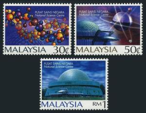 Malaysia 601-603,MNH.Michel 616-618. National Science Center,1996.