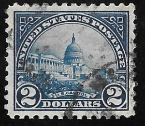 572 2 Dollars U.S. Capitol Blue Stamp used EGRADED VF 81