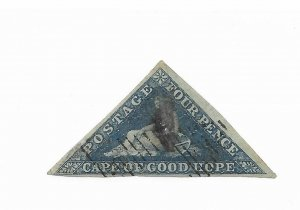 Cape of Good Hope #4 Hole - Used - Stamp CAT VALUE $65.00