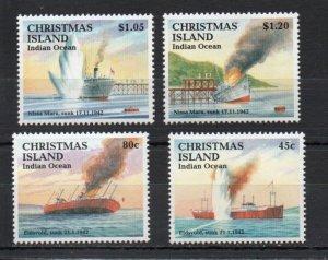 Christmas Island 343-346 MNH