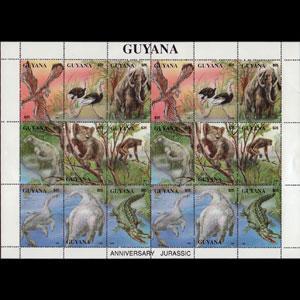 GUYANA 1993 - MI# 4154A Sheet-Dinosaurs NH
