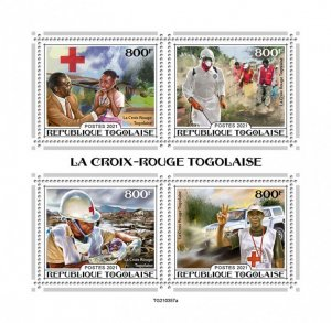 TOGO - 2021 - Togolese Red Cross - Perf 4v Sheet - Mint Never Hinged