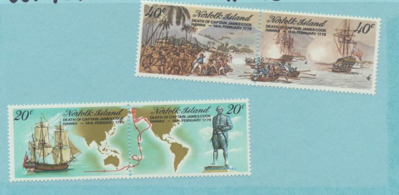 Norfolk Island Scott #242 To 245, Bicentenary of Captain Cook's Death Issue F...