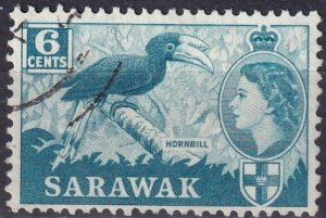 Sarawak #200 F-VF Used CV $3.25 (Z3944)