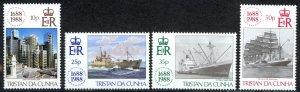 Tristan Da Cunha Sc# 439-442 MNH 1988 Lloyds of London
