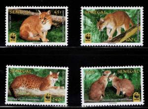Senegal Scott 1294-1297 MNH** WWF cat stamp set