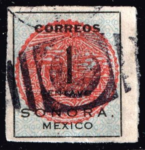 MEXICO STAMP SORONA ISSUE STAMP COLLECTION LOT #4 1C  RED