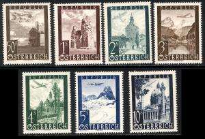 Austria 1947  Scott #C47-53 MNH (CV 8.40)