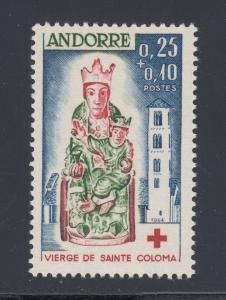 French Andorra Sc B1 MNH. 1964 Red Cross Semi-Postal, complete set, VF