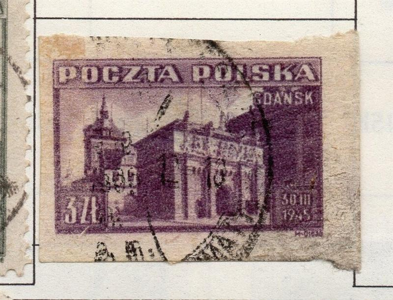 Poland 1944-46 Early Issue Fine Used 3zt. 190930