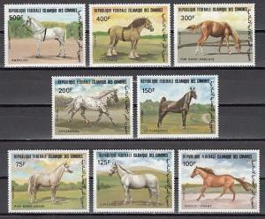 Comoros Is., Scott cat. 579-586. Various Horses issue.