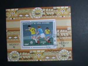 Ivory Coast Stamp-1986-SC#755- World Cup Soccer Mexico'86 CTO-S/S sheet