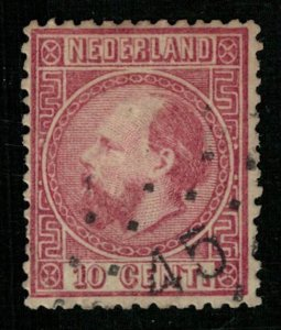 1867, King William III, Netherland, 10 cent, CV $169 (T-6929)