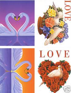 #UX279 Love Stamps Postal Card set/12  - MInt