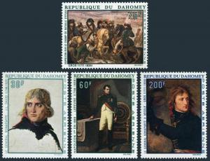 Dahomey C97-C100,MNH.Michel 379-382. Napoleon I,200 th Birth Ann.1969.Paintings.