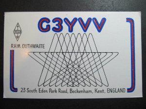 10406 Amateur Radio QSL Card BECKENHAM KENT ENGLAND