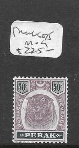 MALAYA PERAK  (P0601B) TIGER 50C SG 75  MOG