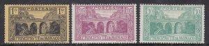 MONACO ^^^^^^1921-33  YVERT #  95-97  hinged  high values $ @ lar776mona
