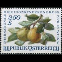 AUSTRIA 1972 - Scott# 928 Pears Set of 1 NH