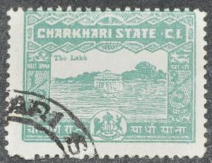 DYNAMITE Stamps: India Charkhari Scott #28 – USED
