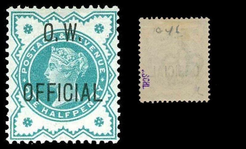 GREAT BRITAIN O46  Mint (ID # 85723)