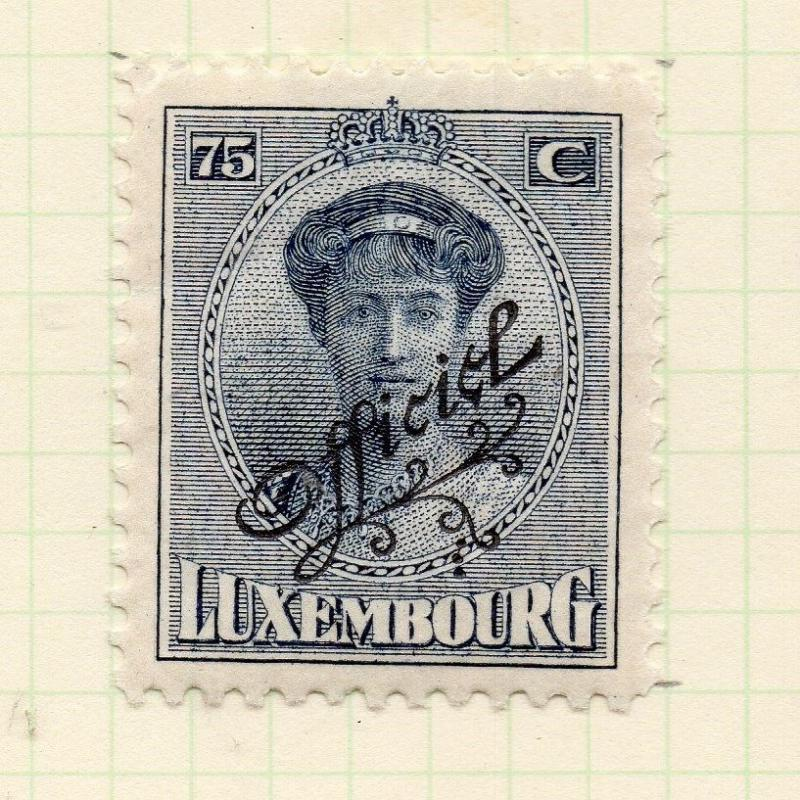 Luxembourg 1921-22 Early Issue Fine Mint Hinged 75c. Official Optd 253207