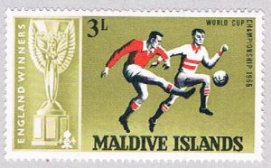 Maldive Islands 208 MNH Soccer 1967 (BP37715)