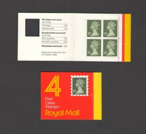 GB: Sc. BK338 /** 72 PENNY-QE II DECIMAL ** / Folded Window Booklet /MNH