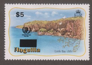 Anguilla 647 Little Bay cliffs O/P 1985