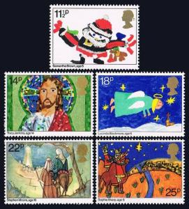 Great Britain 960-964, MLH. Christmas. Children's drawings, 1981