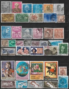 COLLECTION LOT OF 39 INDIA 1959+ STAMPS CV+ $30