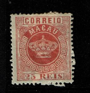 Macao SC# 6, perf 12.5, Mint Heavy Hinged, Hinge Remnant, see notes - S5480