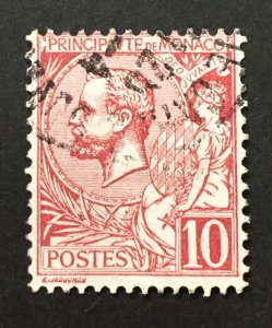 Monaco 1901  #16, Albert I, Used.