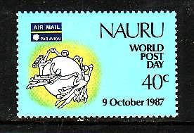 Nauru-Sc#338-Unused NH set-UPU-World Post Day-1987-