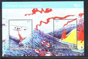 Faroe Islands Sc 581 2012  Sea Rescue  stamp sheet mint NH