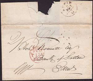 GB SCOTLAND 1822 wrapper to Edinburgh scarce APPIN mileage mark.............7236
