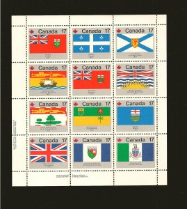 Canada 832a Miniature Sheet of 12 Stamps MNH