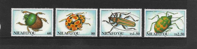 INSECTS - NIUAFOOU #168-71 MNH