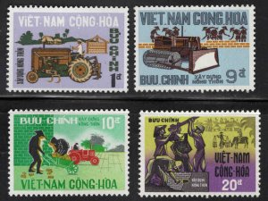 South Vietnam Scott  322-325  MNH** construction stamp set