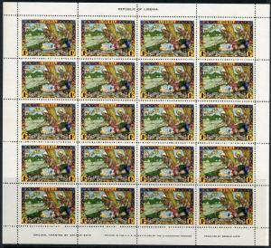 LIBERIA  JEHUDI ASHMUN BY  ARTHUR SZYK SC#309/12,C63/64 SET OF SHEETS  MINT NH