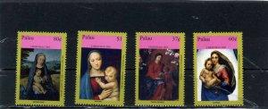 PALAU 2005 Sc#845-848 CHRISTMAS PAINTINGS SET OF 4 STAMPS MNH