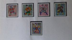 Germany 1970 Charity Stamps - Marionettes Mint