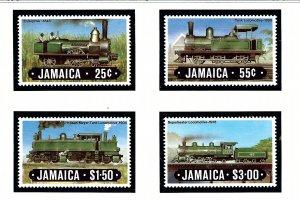 Jamaica 583-86 MNH 1984 Locomotives