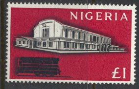 Nigeria  SG 101 SC# 113 MH 1961 Definitive Lagos Railway Station please see scan