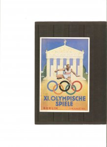 Germany, Olympic Games 1936, commemorative card